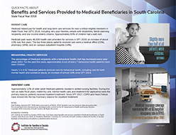 Click here for the latest PDF of SC Medicaid Benefits and Services Quick Facts